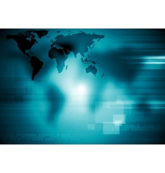 Technology dark blue design vector image