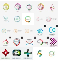 Collection of abstract universal logos vector