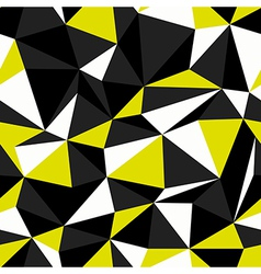 Yellow black seamless triangle pattern vector