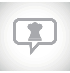 Chef hat grey message icon vector
