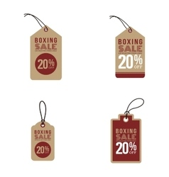 Boxing sale labels vector