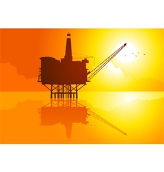 Offshore refinery vector