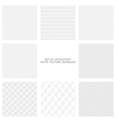 Upholstery texture seamless collection vector