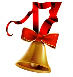 holiday bell vector image