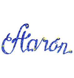 Aaron name lettering tinsels vector