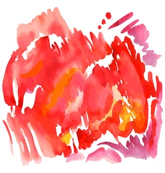 Abstract red watercolor background vector image vector image