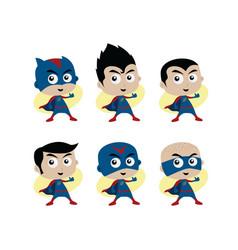 adorable and amazing cartoon superhero in classic vector image