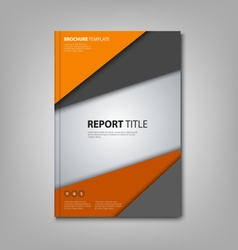 Brochures book or flyer with orange grey triangles vector
