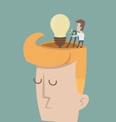 Businessman spark idea vector