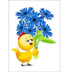 cartoon chicken vector image