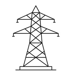 Energy pole icon outline style vector