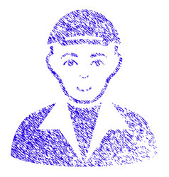 Guy icon grunge watermark vector