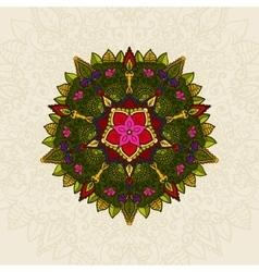 Hand drawn Mandala Floral Design Element vector image
