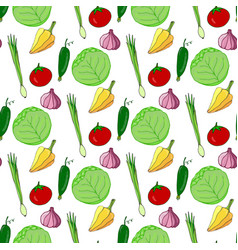 Hand drawn seamless pattern with colorful vector