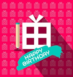 Happy Birthday Paper Flat Design with Paper vector image vector image