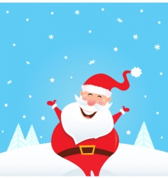 happy Santa Claus and snow vector image vector image