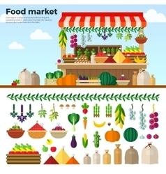 Healthy Food Market of Vegetables Fruits Berries vector image vector image
