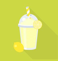 lemonade juice and lemon vector image vector image