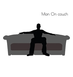 Man on couch vector