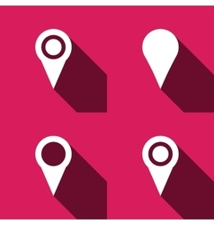 Map marker pointer vector