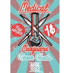 Medical marijuana banner vector