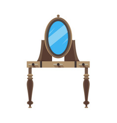 mirror flat icon front view isolated frame vector image vector image