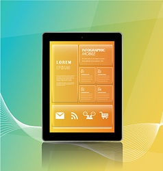 Mobile apps information vector image vector image