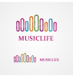 Music design template vector image