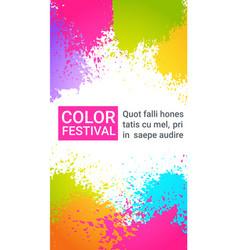 Paint splash color festival happy holi india vector
