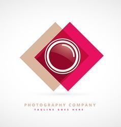 photography design logo vector image