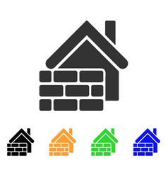 realty brick wall icon vector image