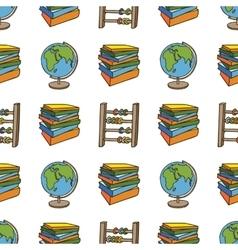 School doodle seamless patter vector image vector image