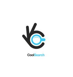 search icon ok symbol okay logo high vector image