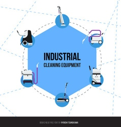 Set of Industrial equipment for cleaning companies vector image