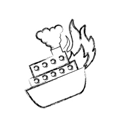Ship cruise insurance isolated icon vector