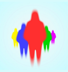 Silhouette of people ghosts vector