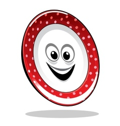 Smiling happy food plate vector image