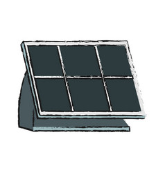 solar panel design vector image vector image