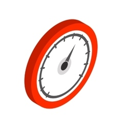 Speedometer or gauge icon isometric 3d style vector image