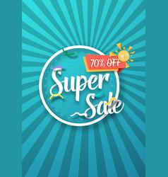 Super sale poster sale flyer template vector