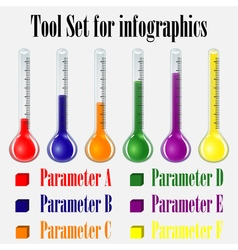 tool set for infographics vector image vector image