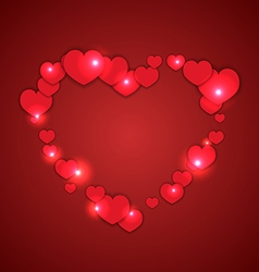 Valentines day heart vector image vector image