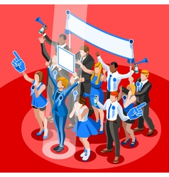 Election infographic crowd congress isometric vector