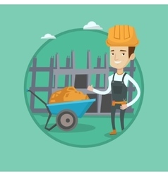 Builder giving thumb up vector