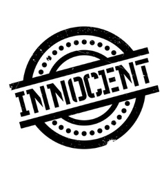 Innocent rubber stamp vector