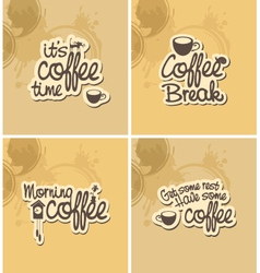 Coffee breaks vector