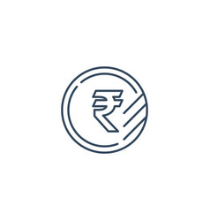 Ruble coin icon financial currency exchange vector