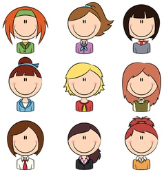 Business female avatar vector