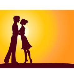 Silhouettes of man and woman vector image