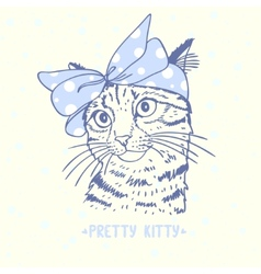 Pretty kitty vector